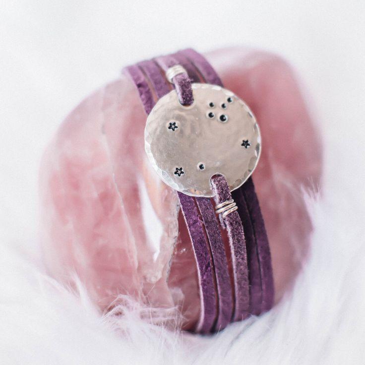 Leo constellation zodiac wrap bracelet. Personalized zodiac constellation bracelet. Leo gift. Personalized zodiac gift. Leather wrap. RTS by ZennedOut on Etsy https://www.etsy.com/listing/164061418/leo-constellation-zodiac-wrap-bracelet