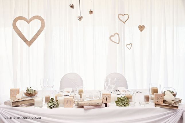 How effective does this look! Table Decor, Wedding Ideas. Werner & Michelle's Wedding. Carmen Roberts Photography