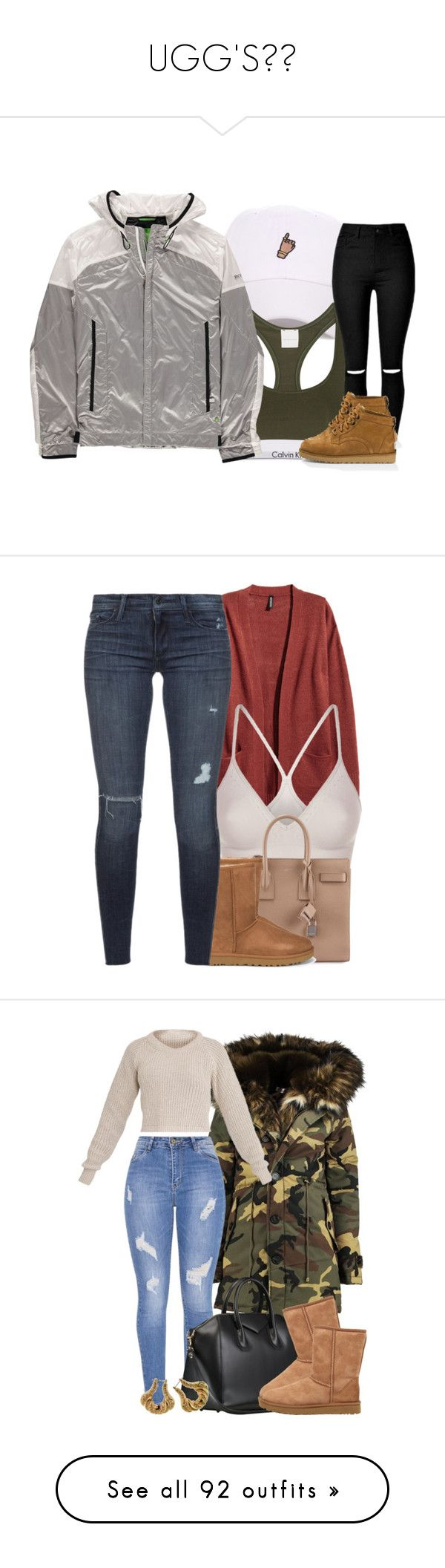 """""""UGG'S😛😎"""" by bvddess ❤ liked on Polyvore featuring Calvin Klein Underwear, BOSS Green, UGG Australia, SPANX, Yves Saint Laurent, UGG, Black Orchid, Boohoo, Topshop and MCM"""