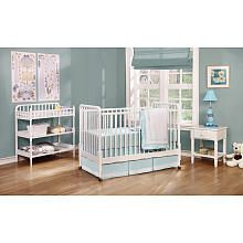 Shermag Jenny Lind 3-in-1 Convertible Crib - White