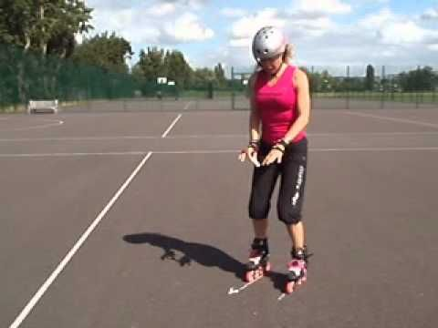 How to do a two footed spin video tutorial for inline skates and quad skates.