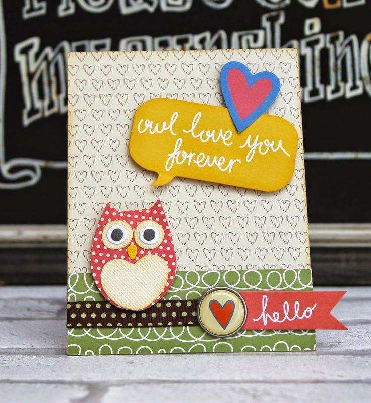 Sizzix Card Making Ideas Part - 37: This Adorable Little Owl Card Is Made With The Into The Woods Papers And  New Thinlits