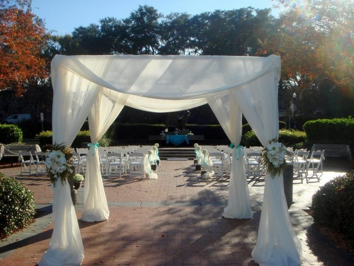 My nieces wedding arbor.