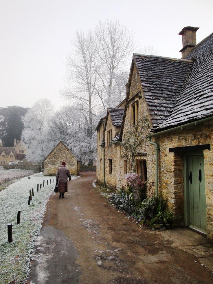 Bibury village, England in winter, countryside, photo ...
