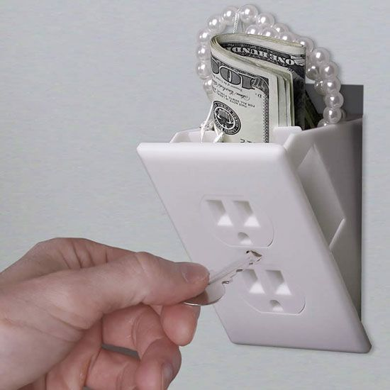 Hidden Fake Wall Safe  #secret place to save your #precious belongings