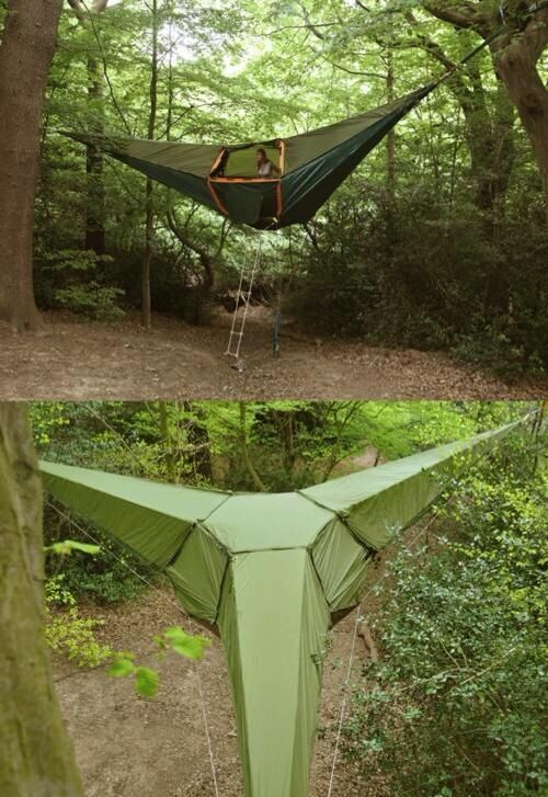 Suspended camping tent! I want this !!!