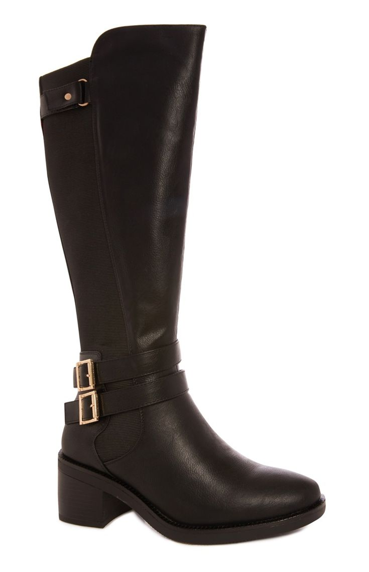 Freshly Primark Black High Block Heel Boot - Primark Online Shop