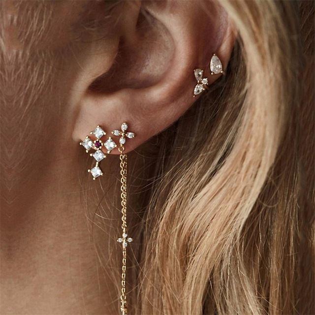 Bridesmaid Earrings post earrings Cross Earrings -Sterling Silver post Earrings stud Earrings