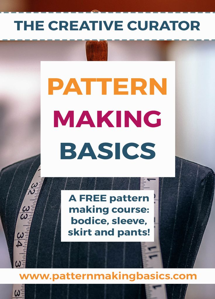 Click for more! Do you want to learn to draft a bodice block, a sleeve block, a skirt block and a trouser block using your own measurements. Pattern making basics will teach you how to draft your own patterns.