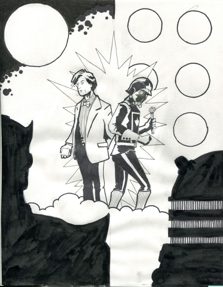 Doctor Who / Guardians of the Galaxy fanwank cover sketch