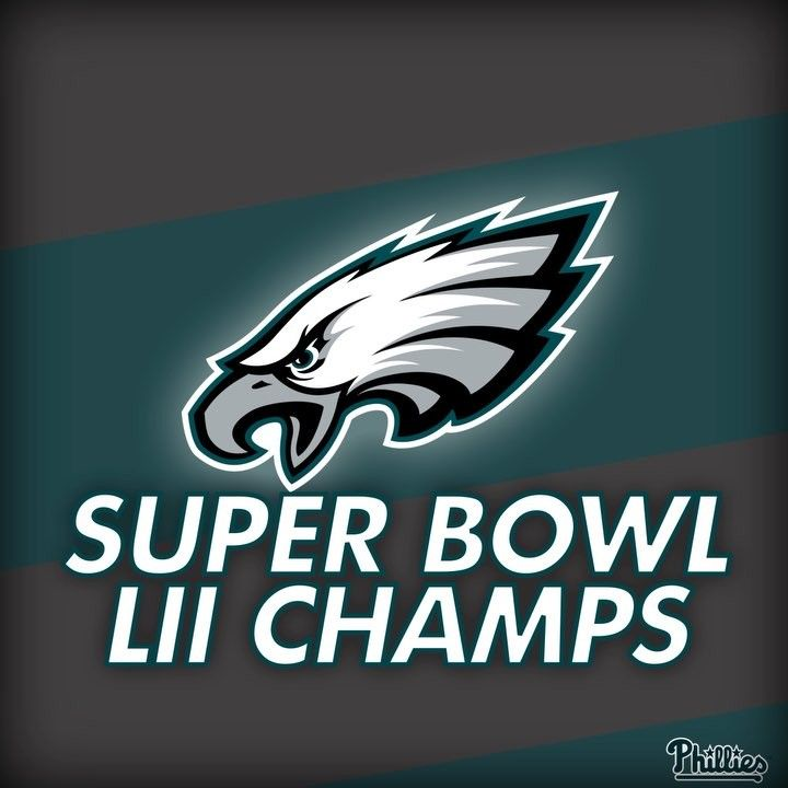 CONGRATS TO THE @philadelphiaeagles SUPER BOWL CHAMPS! #FlyEaglesFly