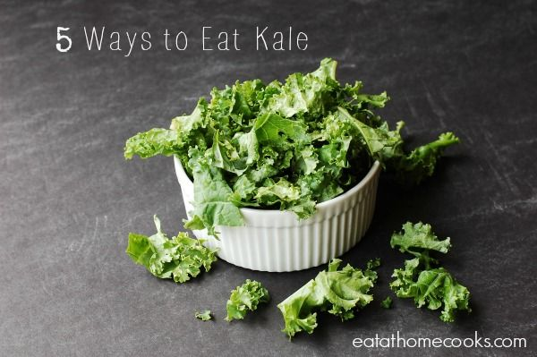 5 Ways to Eat Kale - or what to do with the rest of the bag of kale in the fridge