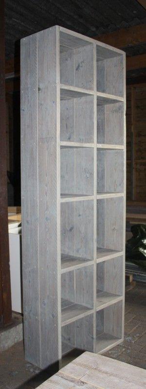 Boekenkast steigerhout | Portfolio meubels | stoerensfeervol