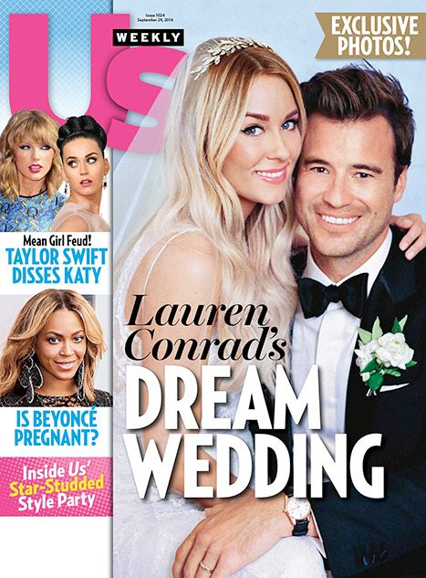 Pick up our new issue for all the exclusive details on Lauren Conrad's dream wedding to William Tell, plus gorgeous photos of her dress, her groom, and their reception!