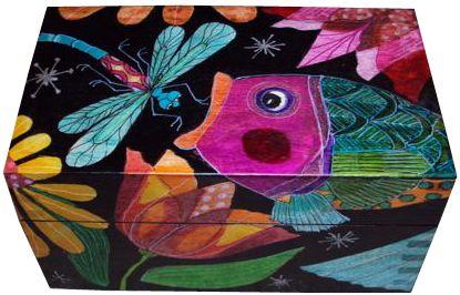 Dragonfly & Fish Box - Helen Heins Peterson