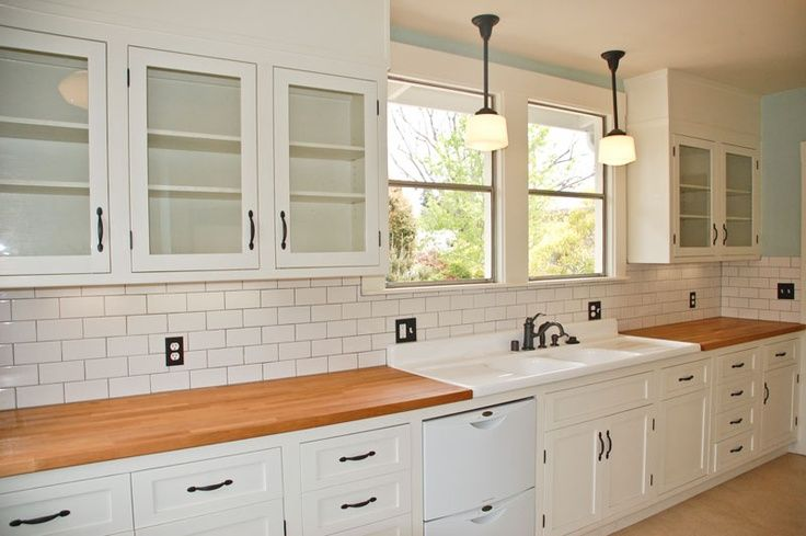 Best 3X6 White Subway Tile Backsplash Butcher Block White 400 x 300