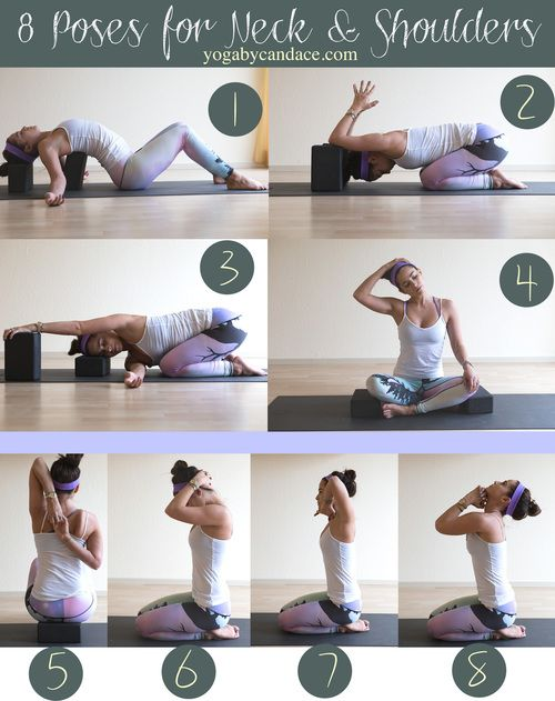 Pin it! 8 Yoga poses for neck and shoulders.