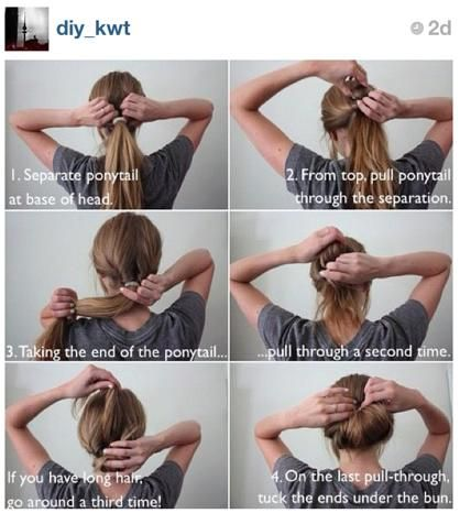 Easy up do for long hair. And this one has words so I might actually be able to follow it!