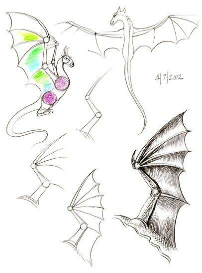 Wings, Dragon; How to Draw Manga/Anime