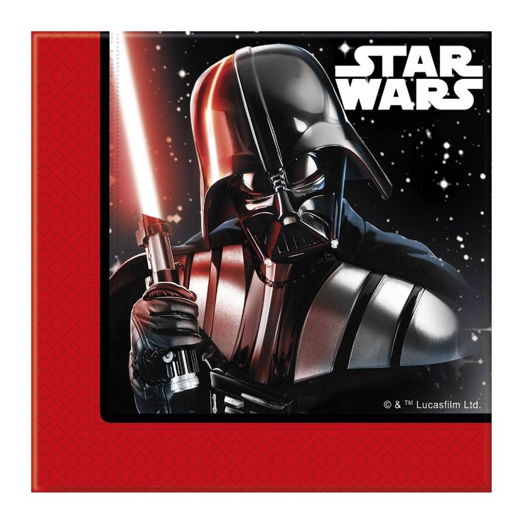 Maak je Star Wars feest compleet met deze servetten. De set bevat 20 dubbellaags papieren servetten van 33 x 33 cm groot met een afbeelding van Darth Vader en de Stormtroopers erop. Afmeting: servet 33 x 33 cm - Star Wars Servetten, 20st.