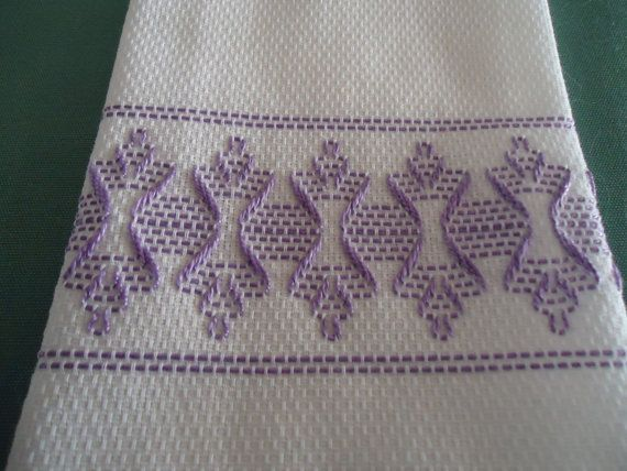 Lavender Hourglass Towel by andreaaufieri on Etsy