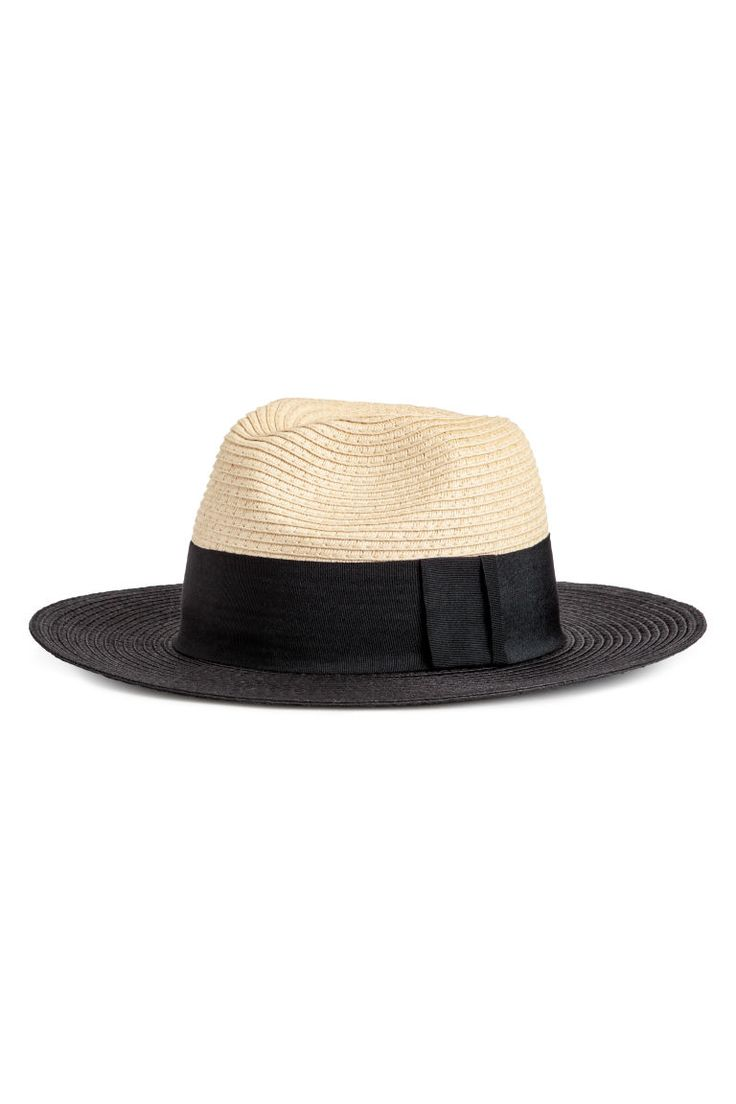 Chapeau de paille - Naturel/noir - FEMME   H&M FR 1