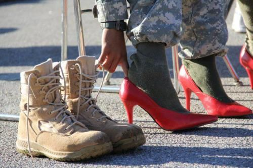 """It takes a real woman to wear both.""     Woman soldier     #america #army #homecoming"