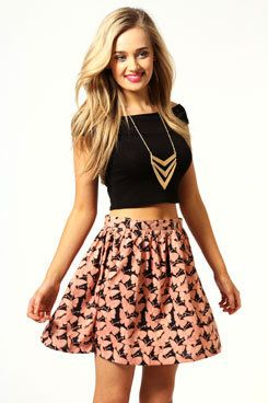 #boohoo                   #Skirt                    #Bonnie #Butterfly #Print #Crepe #Skater #Skirt     Bonnie Butterfly Print Crepe Skater Skirt                                     http://www.seapai.com/product.aspx?PID=426532