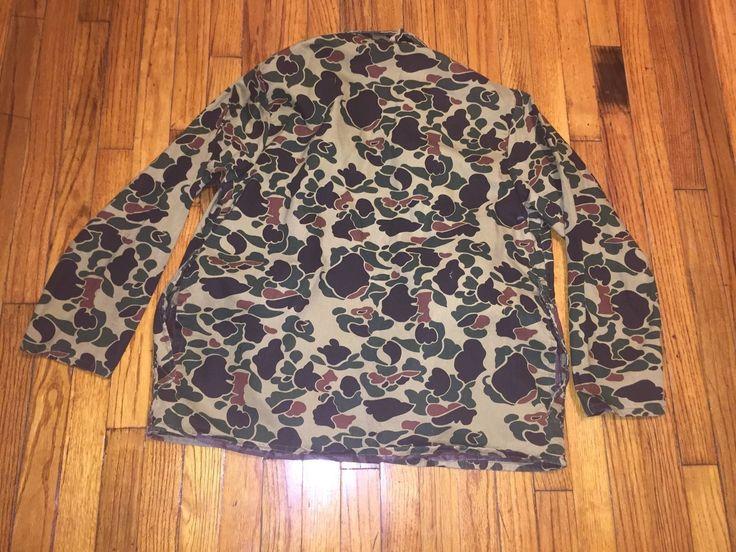 Vintage Redhead Mens Medium Camouflage Game Bird Hunting Jacket W/Pouch