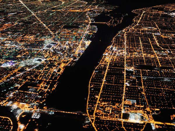 The Great Energy Challenge (National Geographic is, unfortunately, in partnership with Shell Corporation on this.  Still, there is some good information here...)   Photo: Aerial view of a city at night