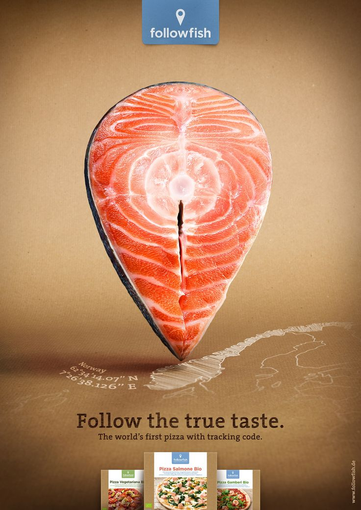 followfish: Salmon    Follow the true taste. The world's first pizza with tracking code.