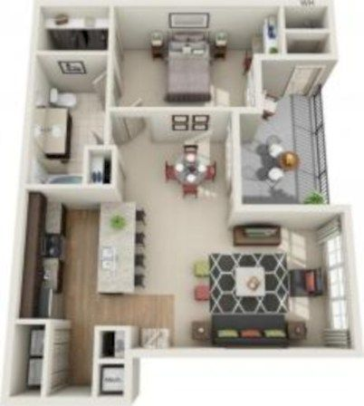 40 Stylish Studio Apartment Floor Plans Ideas