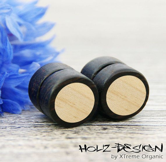 Fake Magnet Plug mit Kreis Illusion Fake Plugs von XTremeOrganic, €13.90  Fake magnetic Plug with circle Inlay Illusion fake Plug on Etsy, €13.90