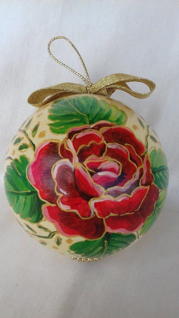 Pallina natalizia per addobbo albero di Natale, by Il Meraviglioso Mondo di Artemisia, 35,00 € su misshobby.com