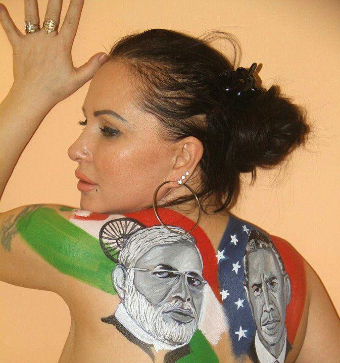 इस एक्ट्रेस पर छाया मोदी-ओबामा का रंग