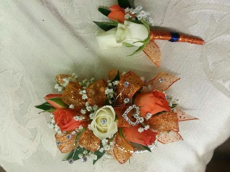 Prom flowers , design by Denna Gundrum , Penny's Florist
