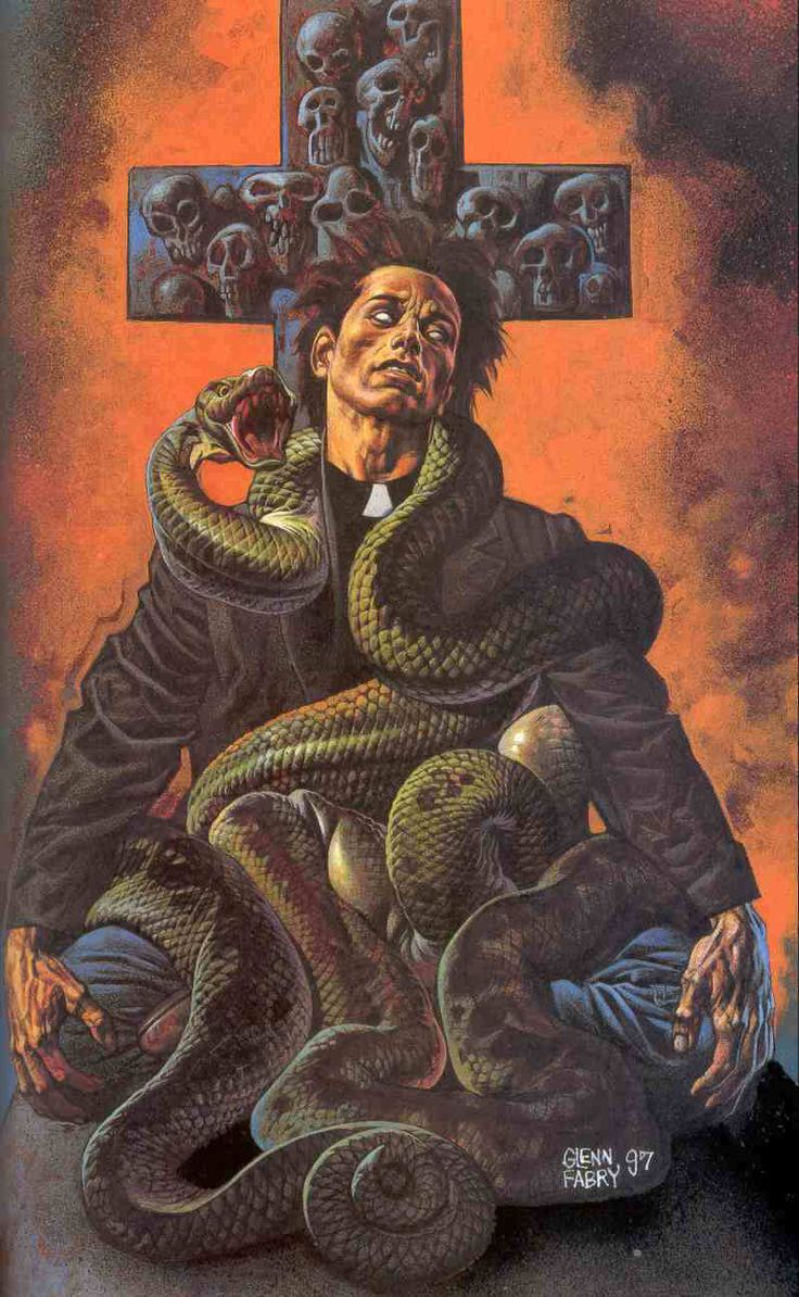 One of Glenn Fabry's Preacher covers. Dark stuff but the dusty orange and brown Western-inspired palette is very cool