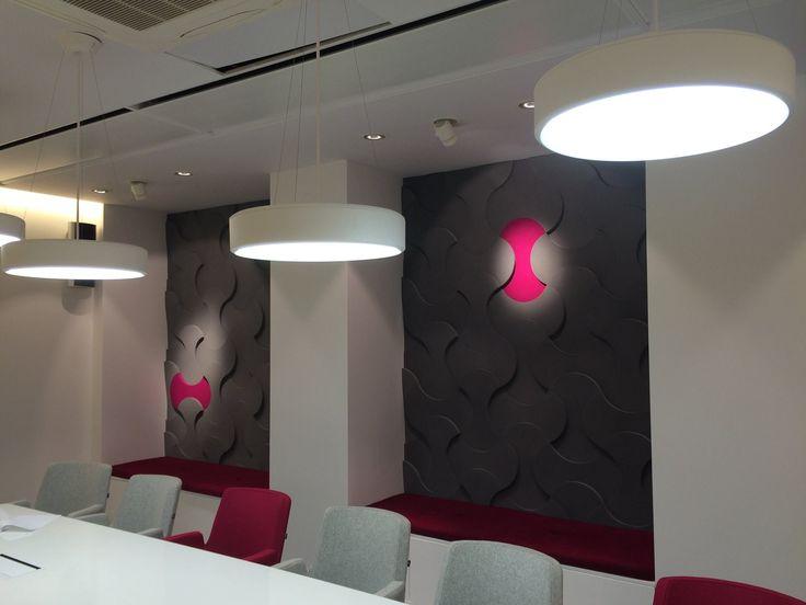 Projekt sali konferencyjnej z panelami Bonuce - Fluffo