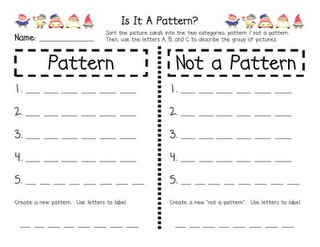 Lots of free math activities- especially patterns