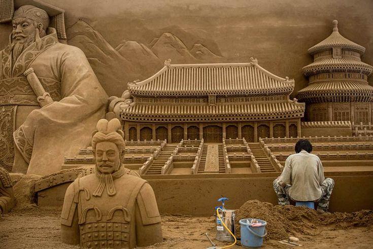 Yokohama Sand Art – Une incroyable sculpture de sable (image)