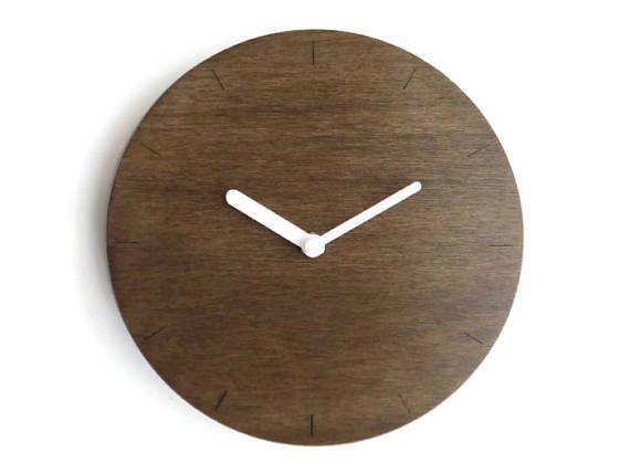Laser cut wood minimalist wall clocklittle wall clockminimal