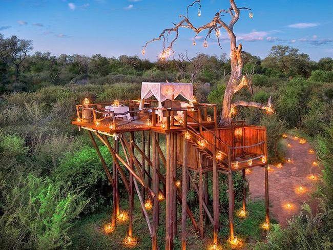 Se gostam de aventura, viajar e o dinheiro não é problema, junte-lhe romance  no Hotel Lion Sands, África do Sul. Está situado numa reserva natural onde passeiam leões, zebras e elefantes e o contacto directo com a natureza é uma constante.