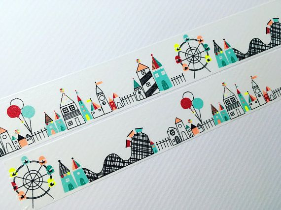 Fun Day At The Amusement Park, Ferris Wheel, Roller Coasters. Use to decorate for any happy occasion. Washi is a high quality paper masking tape, it is easy to tear by hand and can be repositioned. You can also write on it. Great for any giftwrap, card making or craft project. This listing is for your choice of Samples in Increments of 20s. Roll Width: 30mm Scotch Expressions If you are choosing multiple sample lengths please leave a note in the section upon checkout, let me know if you…