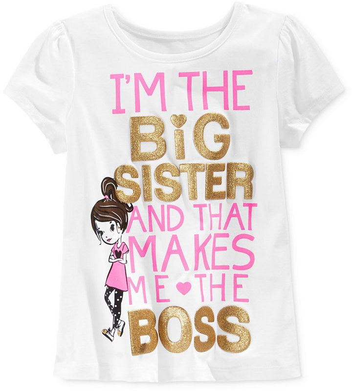 Epic Threads Little Girls' Big Sister Mix & Match T-Shirt, Only at Macy's