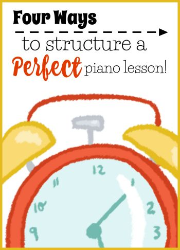 Structuring a piano lesson