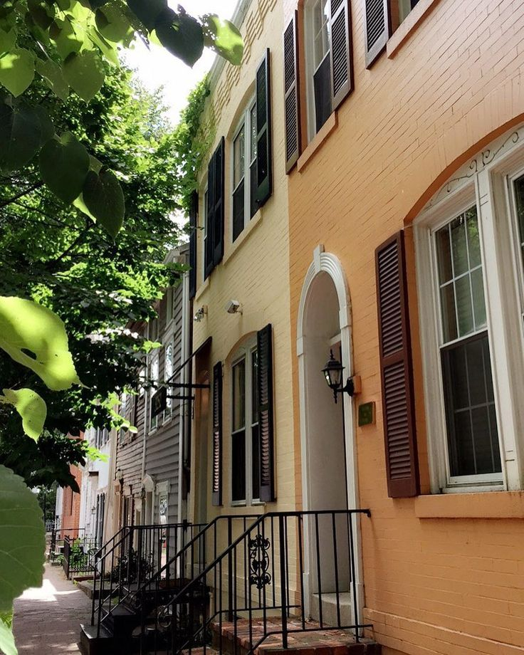 travel colorful townhouses georgetown washington dc
