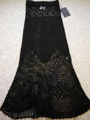 UNIF Birkin Knitted crochet maxi skirt Black SOLD OUT! Nasty Gal ...