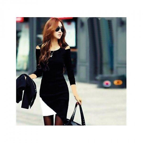 Japon Style Asimetrik Elbise