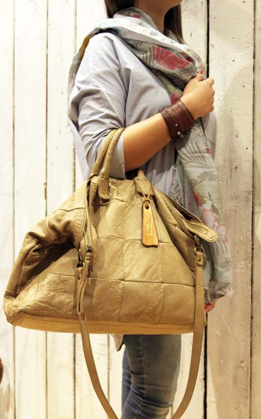 """Handmade Italian vintage Leather Tote bag """"BAULETTO PATCHWORK"""" di LaSellerieLimited su Etsy"""