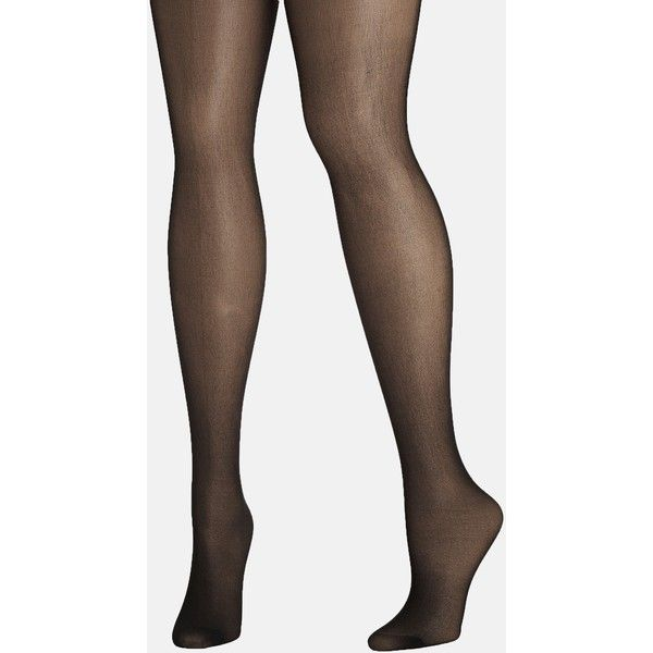 Avenue Plus Size Daysheer Pantyhose ($3.50) ❤ liked on Polyvore featuring intimates, hosiery, tights, jet black, plus size, plus size women in pantyhose, avenue tights, reinforced toe stockings, women's plus size tights and nylon tights